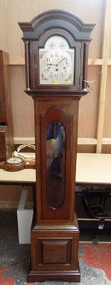 Grandmother inlaid clock with key