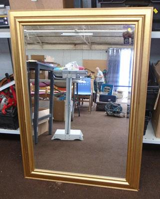 Large mirror with gold coloured frame