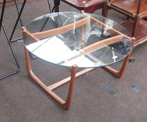 G-plan glass topped table