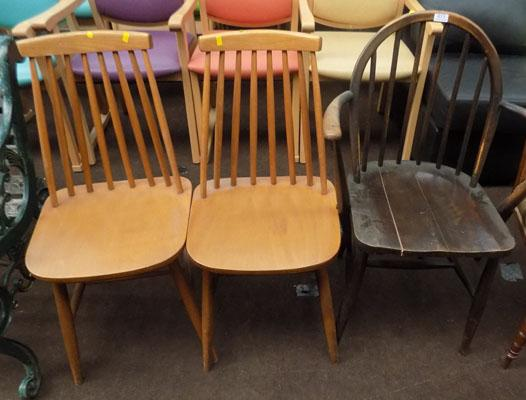 Ercol chair for restoration & 2 others