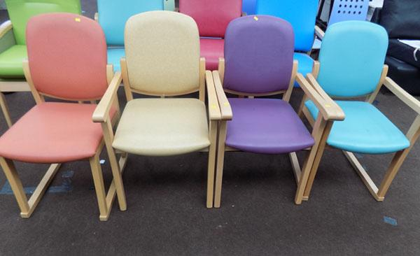 4x Round back chairs