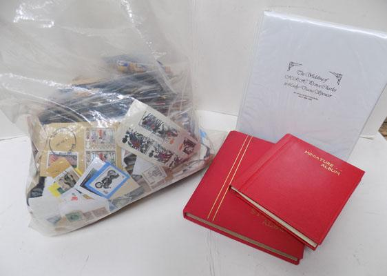 Box of stamps and albums