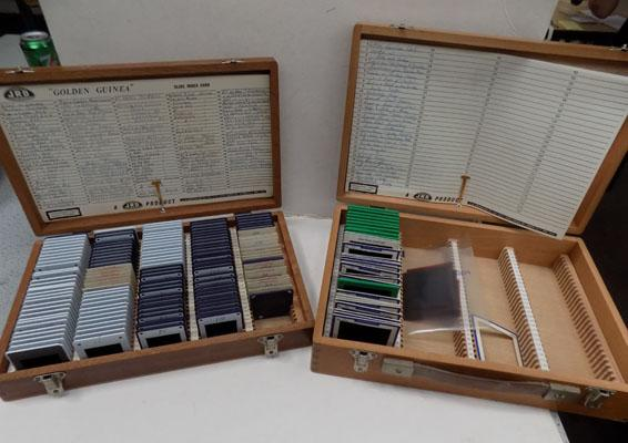 2x Cases of photographic slides
