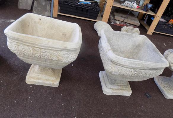 Pair of garden planters-square