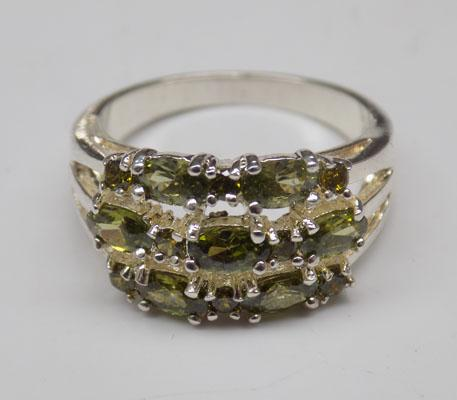 Sterling silver Peridot ring size O1/2