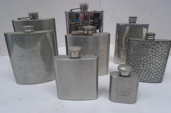 Selection of hip flasks