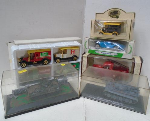 6x Boxed die cast inc Oxford tanks
