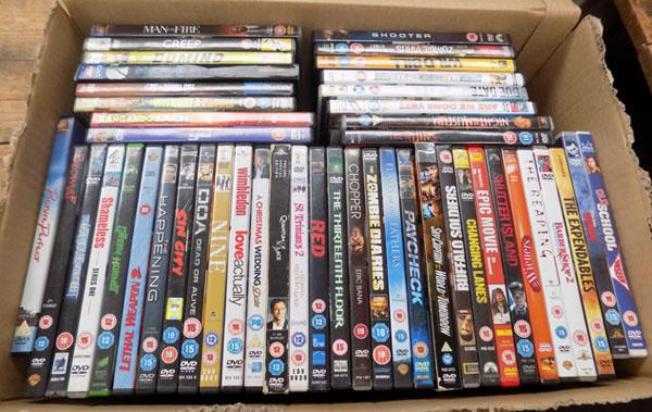 Large box of DVD's