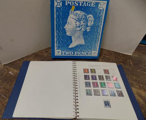 British stamp album with stamps