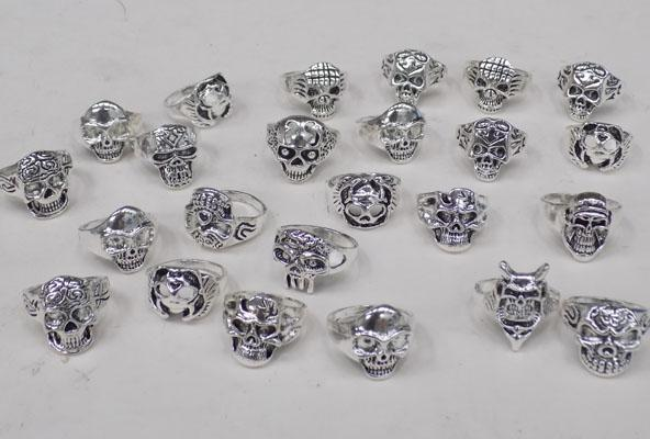 Selection of Gothic skull rings