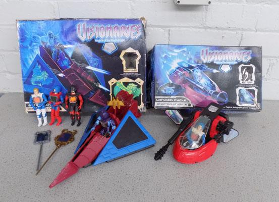 Visionaries selection of figures & boxed vehicles