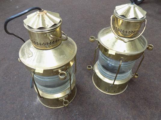 Pair of vintage brass lamps