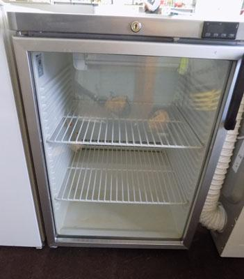 Glass fronted fridge-stainless