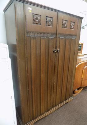 Carved double wardrobe