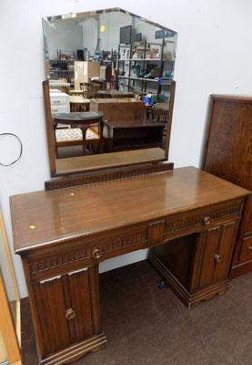 Carved mirrored dressing table