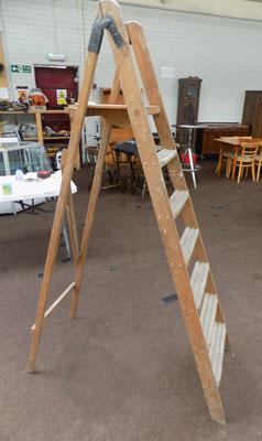 Set of wooden step ladders