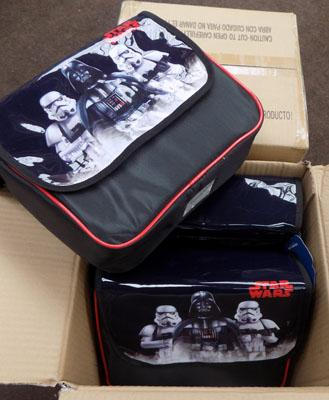 6x Star Wars lunch boxes
