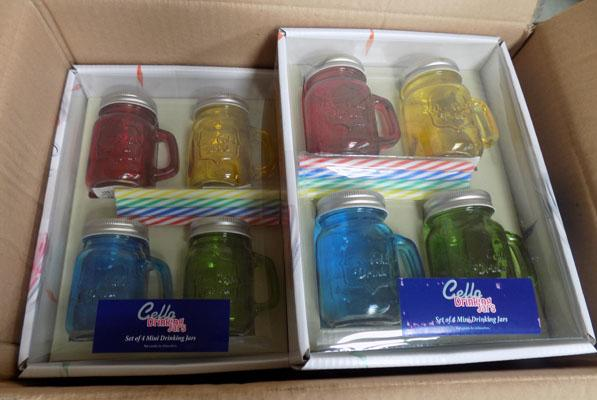 7 Boxes of novelty jars