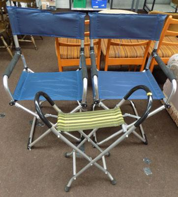 3x Folding/camping chairs