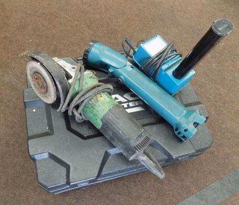 3x Assorted tools inc Makita torch & charger