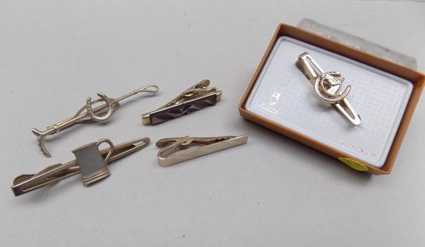 Selection of tie clips inc Stratton