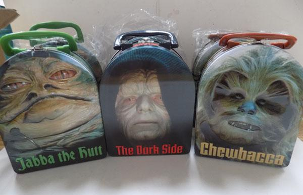 6x Tin Star wars lunch cases