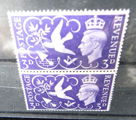 George VI stamps unmounted mint 'extra berry'