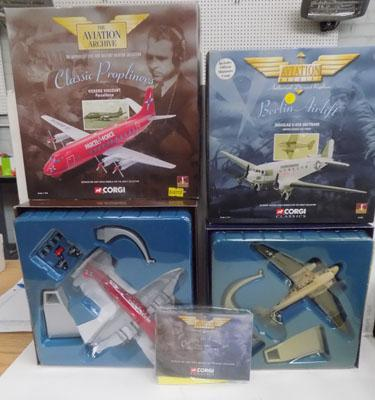2 boxed Corgi aircrafts 'The Aviation Archive'