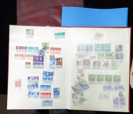 3 albums of GB stamps