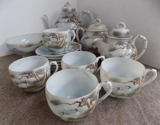 Hand painted tea set-Japanese design