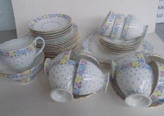 Floral pattern Foley tea set