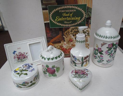 Portmeirion collection 6 pieces & book