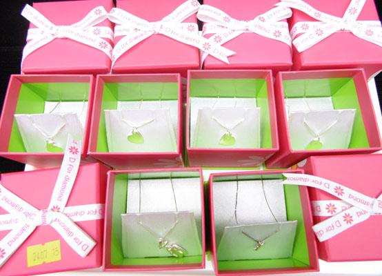 6 x D4 Diamond kids pendants in sterling silver
