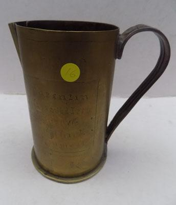 1917 WW1 shell-tankard-'Trench Art'