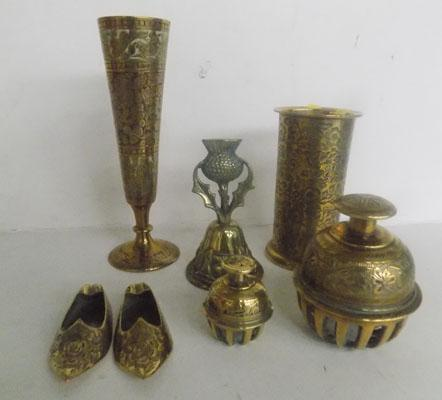 Collection of Indian brassware