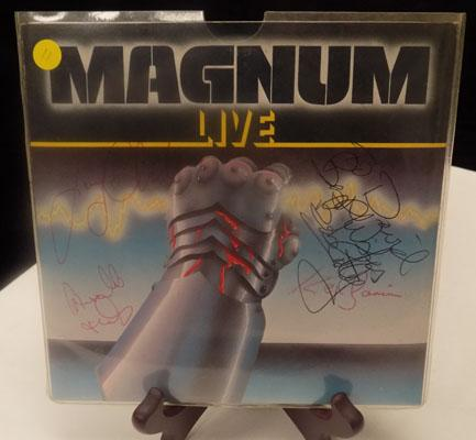 Magnam Live record - signed by band
