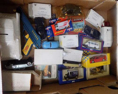 Box of boxed diecast