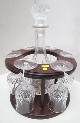 Decanter stand & 6 glasses