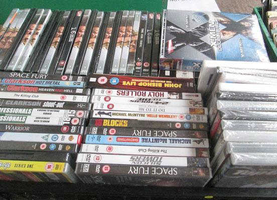 Large box of new DVD's