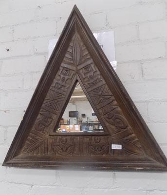 Tribal triangular mirror