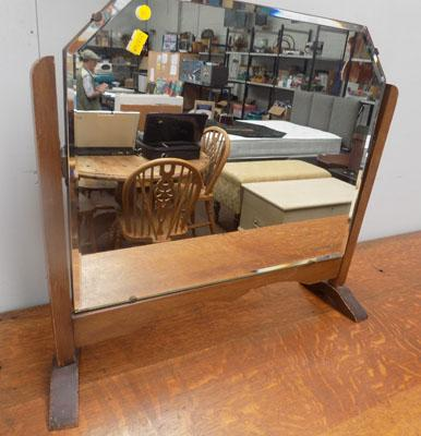 Oak bevel edge dressing table mirror