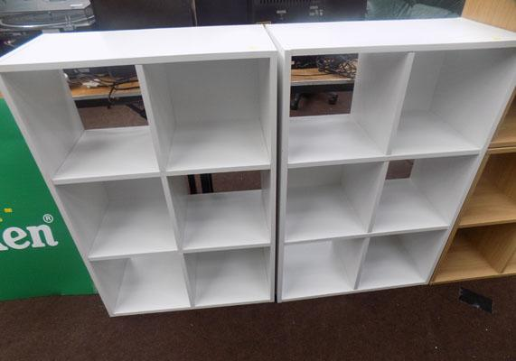 2x Six cube storage unit in white