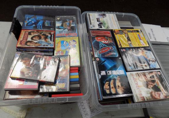 2x Large boxes of DVD's