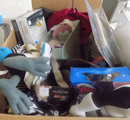 Large box of new items
