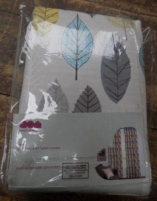 Leaf print curtains-90""