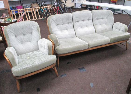 Ercol 3 seater and chair