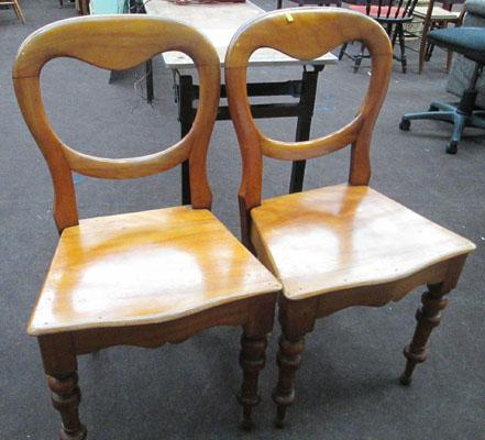 Pair of balloon back chairs