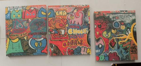 Set of 3 graffiti collectors canvas's