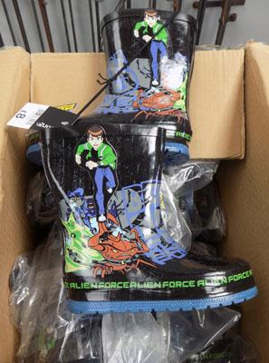 Box of new Ben 10 wellies