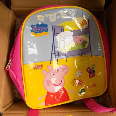 Box of 12 Peppa Pig backpacks